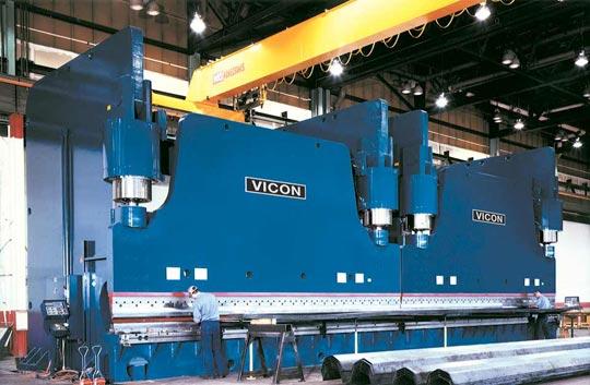 Vicon's 50' CNC controlled hydraulic press