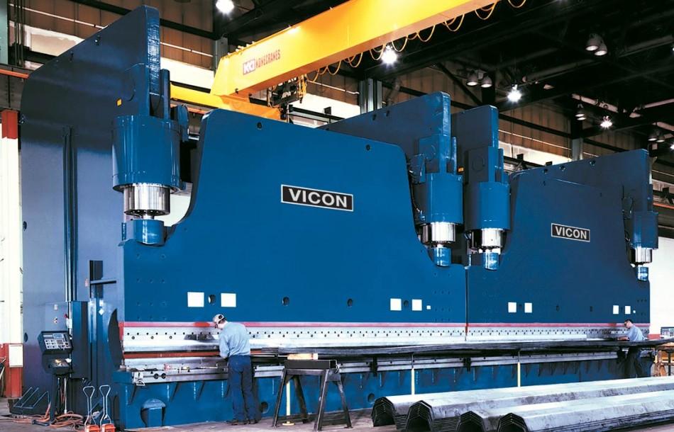 Vicon Fabricating 50' CNC hydraulic press